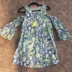 Lilly Pulitzer Cold Shoulder Tunic Dress - Size XS